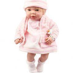 Пупс Arias Elegance в розовой одежде с изображением зайчика 38 см