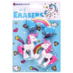 Набор ластиков Darvish Единорожка, 3 шт