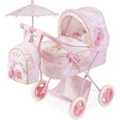Коляска для куклы DeCuevas Мария с рюкзаком и зонтиком 60 см