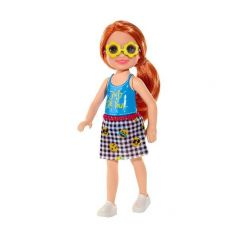 Кукла Barbie Челси в голубой майке 13 см