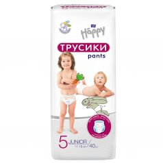 Подгузники-трусики Bella Baby Happy Pants (11-18 кг) 40 шт.