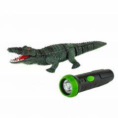 Игрушка на радиоуправлении 1Toy Робо Лайф Робо-Крокодил 7 см