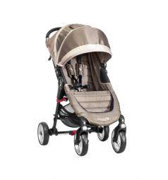 Прогулочная коляска Baby Jogger City Mini Single 4Weel, цвет: песочный/серый