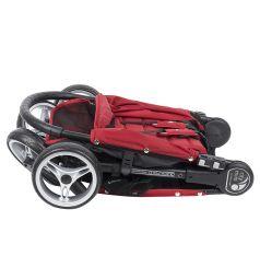Прогулочная коляска Baby Jogger City Mini Single 4Weel, цвет: красный/серый