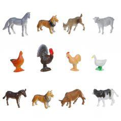 Набор животных Bondibon Ребятам о зверятах. Домашние животные и птицы 5 см