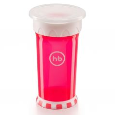 Кружка-поильник Happy Baby 360°, с 9 месяцев, цвет: красный