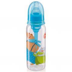 Бутылочка Happy Baby с силиконовой соской полипропилен, 250 мл, цвет: голубой