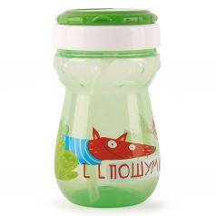 Поильник Happy Baby для кормления с трубочкой, с 9 месяцев, цвет: зеленый