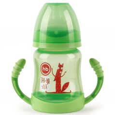 Поильник Happy Baby для кормления с ручками, с 6 месяцев, цвет: зеленый