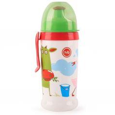 Поильник Happy Baby для кормления с прщепкой, с 12 месяцев, цвет: зеленый