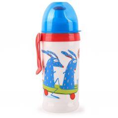 Поильник Happy Baby для кормления с прщепкой, с 12 месяцев, цвет: голубой