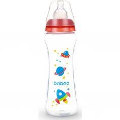 Бутылочка Baboo с узкой силиконовой соской Space полипропилен, 330 мл