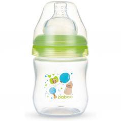Бутылочка Baboo с широкой силиконовой соской Baby Shower полипропилен, 130 мл