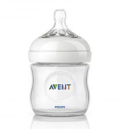 Бутылочка Avent Natural полипропилен с 1 мес, 125 мл, цвет: прозрачный