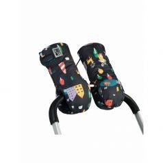 Муфты-варежки Leokid Andersen для коляски, цвет: черный