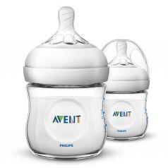Бутылочка Avent Natural для кормления SCF030/27, полипропилен, 125 мл
