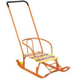 Санки Galaxy Мишутка 2, цвет: оранжевый