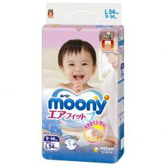 Подгузники Moony L (9-14 кг) 54 шт.