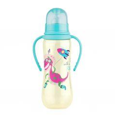 Бутылочка Lubby для кормления с ручками полипропилен с рождения, 250 мл