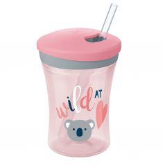 Поильник Nuk Evolution Action cup для девочек, с 12 месяцев, цвет: розовый
