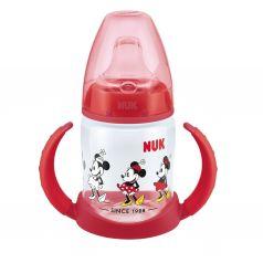 Бутылочка Nuk Disney Mickey Mouse обучающая с насадкой полипропилен с 6 месяцев, 150 мл, цвет: красный