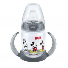 Бутылочка Nuk Disney Mickey Mouse обучающая с насадкой полипропилен с 6 месяцев, 150 мл, цвет: черный