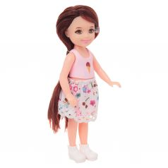 Кукла Игруша розовый топ, юбка макси 14 см