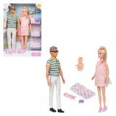 Набор кукол Defa в розовом с аксессуаром 28 см