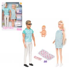 Набор кукол Defa в голубом с аксессуаром 28 см