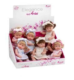 Кукла Arias Elegance в платье (белое в горох) 33 см
