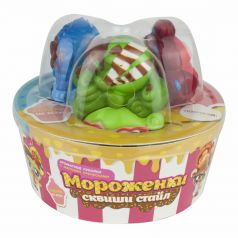 Набор кукол 1Toy Мороженки сквиши стайл (зелёный/голубой/красный)