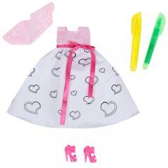 Одежда для кукол Zhorya Платье розово-белое 29 см