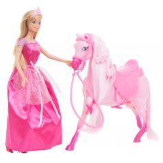 Игровой набор Anlily Кукла с аксессуарами (розовое платье) 29 см
