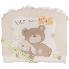 Бортик в кроватку L`abeille Мишка с зайкой