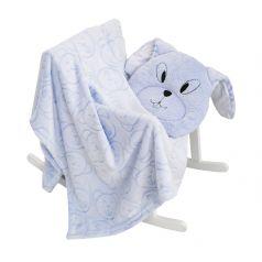 Комплект Baby Nice, цвет: голубой плед/подушка
