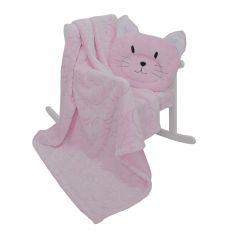 Комплект Baby Nice, цвет: розовый плед/подушка