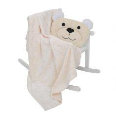 Комплект Baby Nice, цвет: бежевый плед/подушка