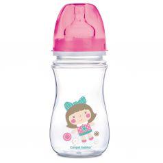 Бутылочка Canpol PP EasyStart Toys полипропилен, 240 мл, цвет: розовый