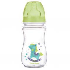 Бутылочка Canpol PP EasyStart Toys полипропилен, 240 мл, цвет: салатовый