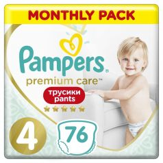 Трусики-подгузники Pampers Premium Care Pants, р. 4, 9-15 кг, 76 шт
