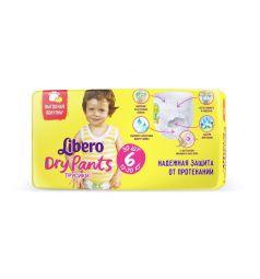 Трусики-подгузники Libero Dry Pants Size 6 (13-20 кг) 30 шт.
