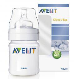 Бутылочка Avent Classic полипропилен с рождения, 125 мл, цвет: прозрачный