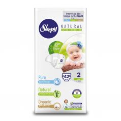 Подгузники Sleepy Natural Organic Baby Diaper Jumbo Mini (3-6 кг) шт.