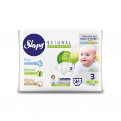 Подгузники Sleepy Natural Organic Baby Diaper Jumbo Midi (4-9 кг) шт.