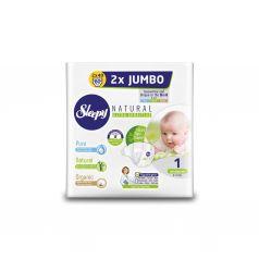 Подгузники Sleepy Natural Organic Baby Diaper Double Jumbo Newborn (2-5 кг) шт.