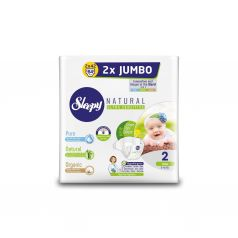 Подгузники Sleepy Natural Organic Baby Diaper Double Jumbo Mini (3-6 кг) шт.