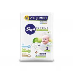 Подгузники Sleepy Natural Organic Baby Diaper Double Jumbo Midi (4-9 кг) шт.