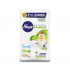 Подгузники Sleepy Natural Organic Baby Diaper Double Jumbo Maxi (7-14 кг) шт.