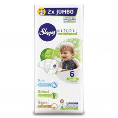 Подгузники Sleepy Natural Organic Baby Diaper Jumbo Extra Large (15-25 кг) шт.