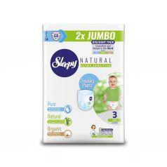Трусики Sleepy Natural Training Pants Double Jumbo Midi, р. 3, 4-9 кг, 68 шт